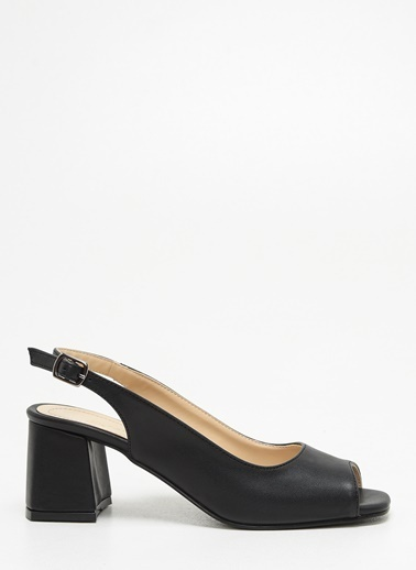 F By Fabrika F By Fabrika Farah Çok Renkli Kadın Kalın Topuklu Ayakkabı Siyah